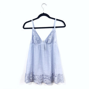 [Ambrielle] Baby Blue Lace Nightie Chemise